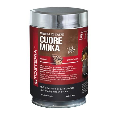 Cuore moka 75% arabika - zrnková káva 250g