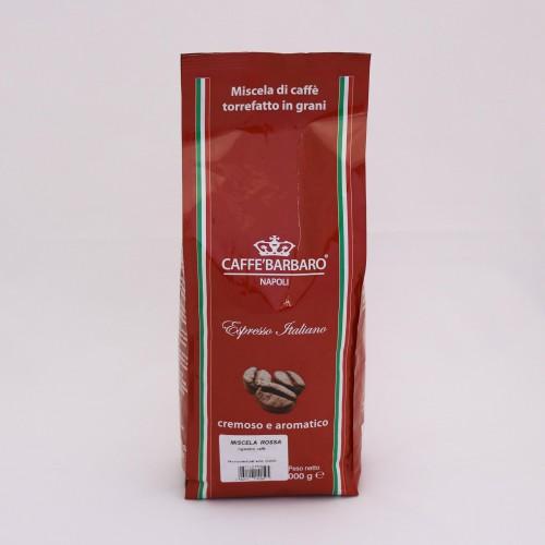 Káva BARBARO RED 1kg - zrnková káva