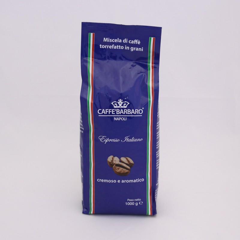 Káva BARBARO BLU 1kg - zrnková káva