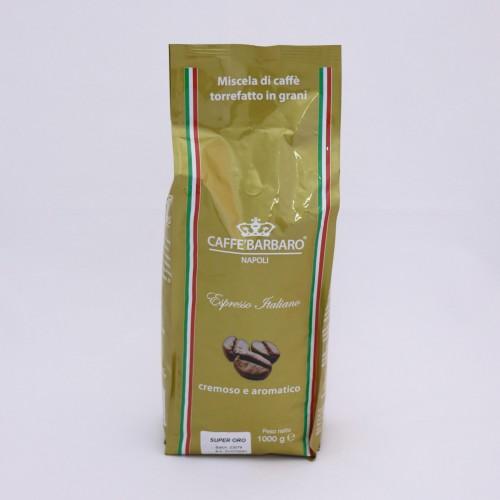 Káva BARBARO ORO 1kg - zrnková káva
