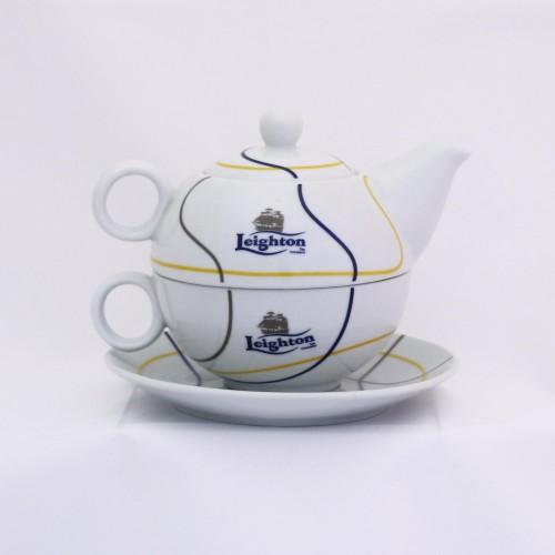 Konvička na čaj s pod šálkem 200 ml